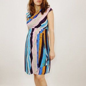 Anthropologie Tracy Reese Striped Silk Dress